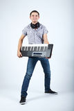 Photo of boy with piano stock photography