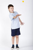 Photo of boy playing table tennis Stock Images