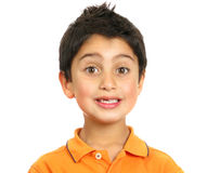 Photo boy surprised. To show tooths and eyes Royalty Free Stock Images
