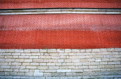 Photo of a brick big wall Royalty Free Stock Images