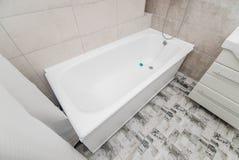 The photo of a bright bathtub stock photos