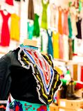 Cinco De Mayo Dress in a Store. This photo of bright colors was taken at a local Hispanic store