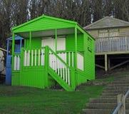 Green beach hut on tankerton slopes whitstable kent stock photos