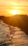 Photo of a bright sea sunset Royalty Free Stock Image