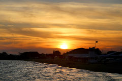 Photo of a bright sea sunset Stock Photography