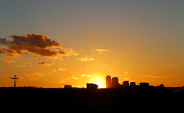 Photo of a bright sunset Royalty Free Stock Images