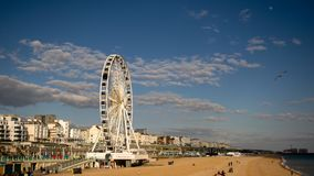 Photo of Brighton Beach Landscape2, Shot from Brighton pier, England. Photo of Brighton Beach Landscape panoramic  view, Shot from Brighton pier, England Royalty Free Stock Photos
