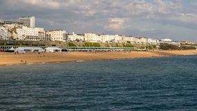 Photo of Brighton Beach, Shot from Brighton pier, England. Photo of Brighton Beach Landscape, Shot from Brighton pier, England Royalty Free Stock Images