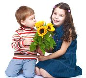 Photo brother and sister Royalty Free Stock Images