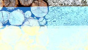 Photo of Brown Log and White Pebbles Royalty Free Stock Photo