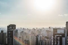 Buildings near Paulista Avenue, in Sao Paulo, Brazil Brasil Stock Photo