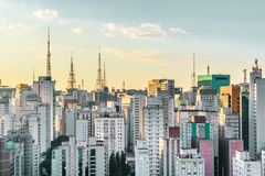 Buildings near Paulista Avenue, in Sao Paulo, Brazil Brasil Royalty Free Stock Photos