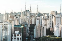 Buildings near Paulista Avenue, in Sao Paulo, Brazil Brasil Stock Photography