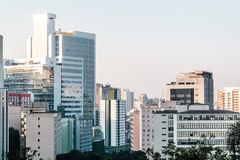 Buildings near Paulista Avenue in Sao Paulo, Brazil Royalty Free Stock Photography