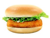 Photo Burger With Fish Fillets Stock Photos