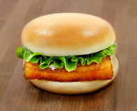 Photo Burger With Fish Fillets Royalty Free Stock Photos