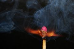 Photo of burning match Royalty Free Stock Image