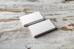 Photo of business cards Stock Photo