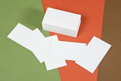 Photo of business cards. Stock Photography