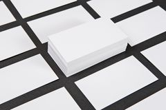 Photo of business cards. Royalty Free Stock Image