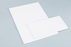 Photo of business cards. Royalty Free Stock Photo