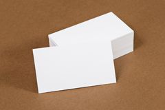 Photo of business cards. Stock Photo