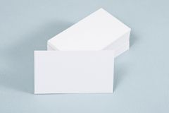 Photo of business cards. Royalty Free Stock Images