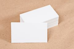 Photo of business cards. Stock Photos