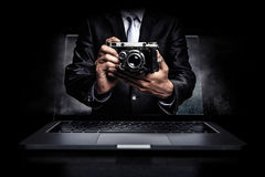 Photo business concept. Mixed media Stock Image