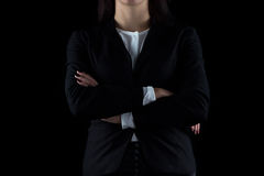 Photo of business woman with arms crossed Stock Image