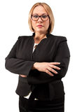Photo business woman in glasses with arms crossed Royalty Free Stock Photos