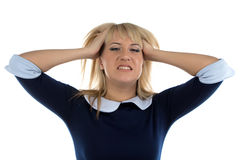 Photo of business woman in stress Stock Photography