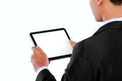 Photo of a businessman using tablet PC Royalty Free Stock Photography