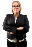 Photo businesswoman in glasses with arms crossed Royalty Free Stock Photo