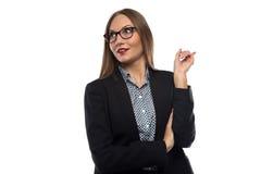 Photo of businesswoman with good idea Stock Photo