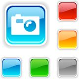Photo  button. Stock Images