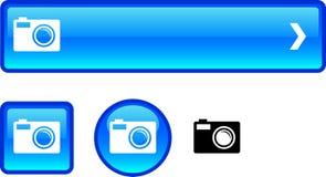 Photo button set. Stock Images