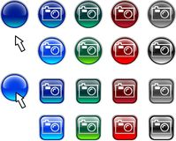 Photo buttons. Stock Photo