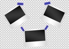 Photo, cadre, album, conception, instant, photo, vecteur, mur Image stock