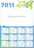 Photo-calendar in english for 2011. Poster with photo-calendar in english for 2011, A3 size vertical, with all 12 months stock illustration