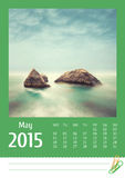 2015 photo calendar. May. Stock Photography