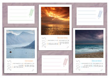 2015 photo calendar with minimalist landscape. 2015 photo calendar with beautiful  landscapes Stock Photo