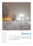 Photo calendar with minimalist landscape 2015. Royalty Free Stock Photo
