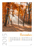 Photo calendar with minimalist landscape 2015. Royalty Free Stock Photography