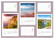 2015 photo calendar with minimalist landscape. 2015 photo calendar with sea landscapes Royalty Free Stock Photography