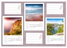 2015 photo calendar with minimalist landscape Royalty Free Stock Photography