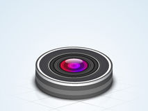 Photo camer lens for photography. Royalty Free Stock Image