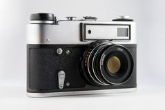 Photo camera. Old fashion film photo camera Stock Photo