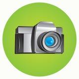 Photo camera. Realistic photo camera - vector illustration Stock Photography