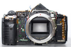 Photo camera beging repaired Stock Photo